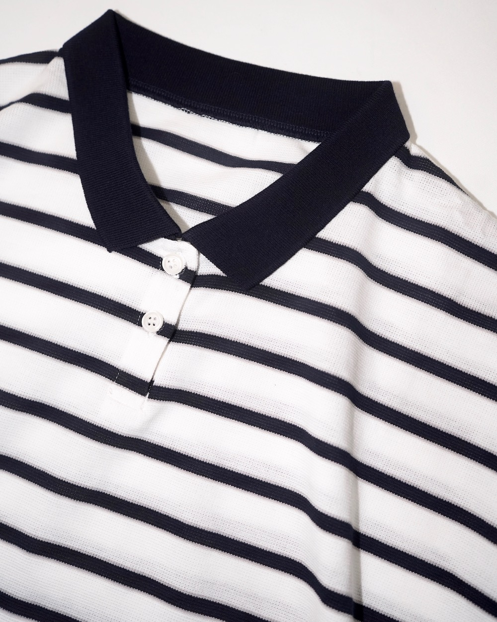 Loose Fit Border Polo-shirts (white)