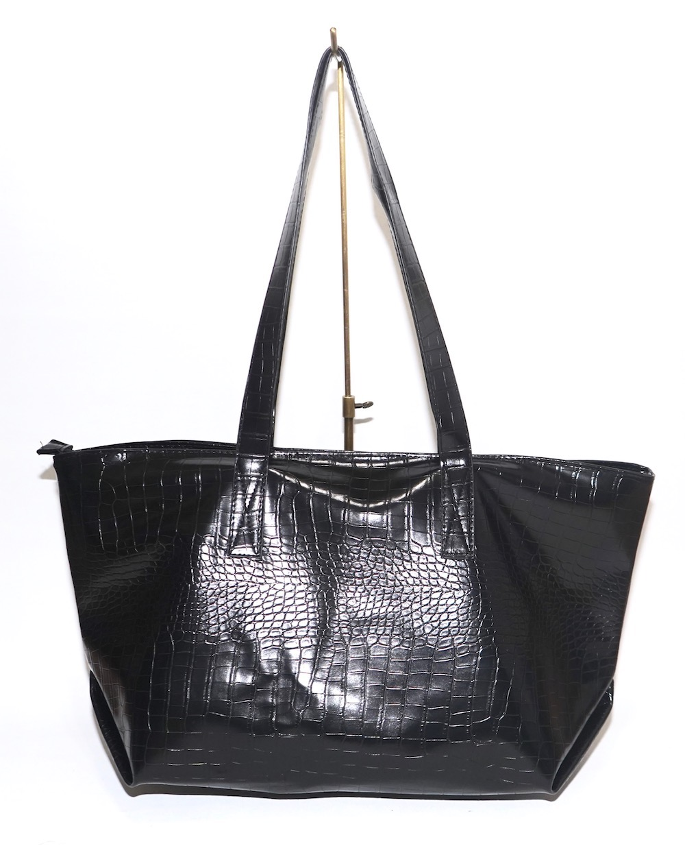 Croco-Touch Big Tote Bag (black)