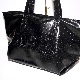 Croco-Touch Big Tote Bag (black)