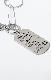 Plate Tag Silver Chain Necklace