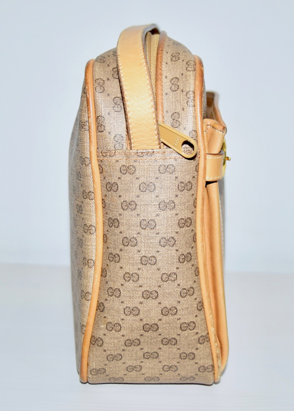 """""""GUCCI"""" GG PATTERN BELTED SHOULDER BAG(beige)"""