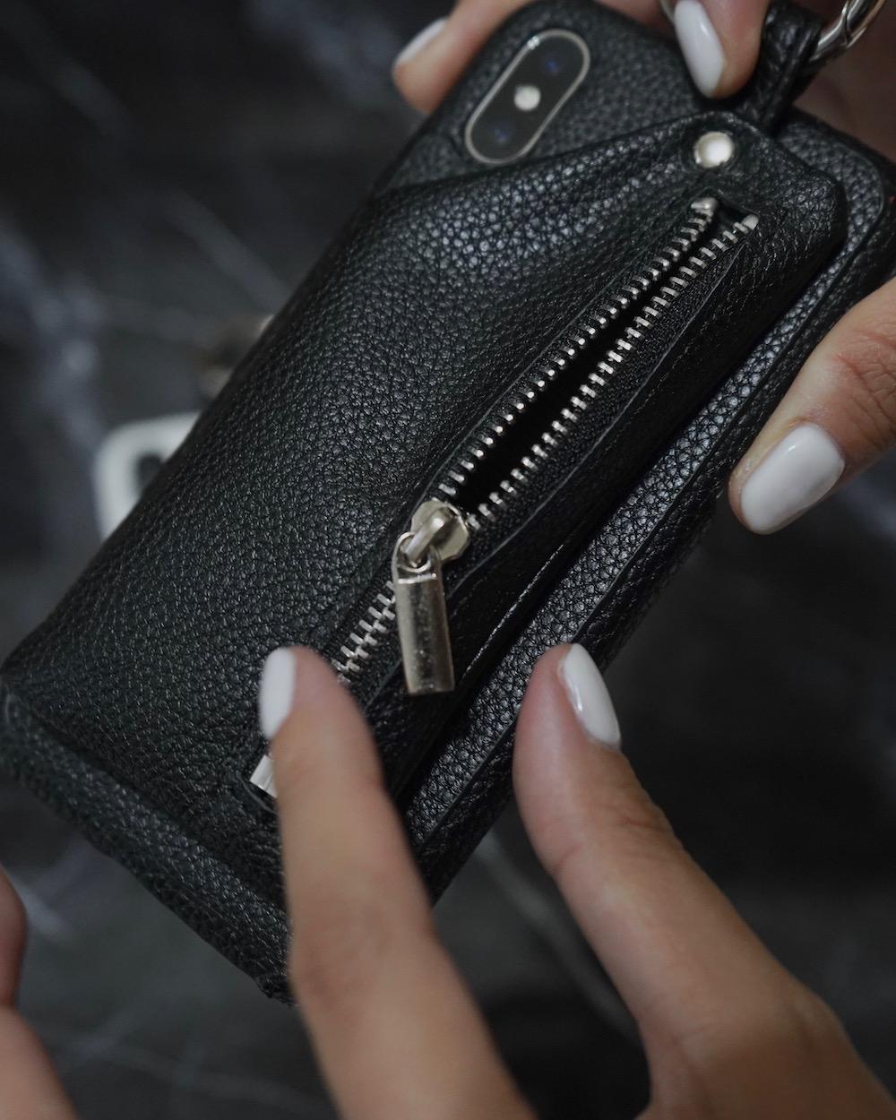 (全2色) Pouch&Ring Karabiner iPhone Case