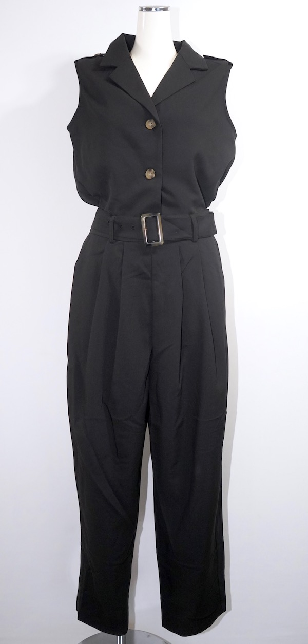Jacket Like Jumpsuit *with Belt (black)