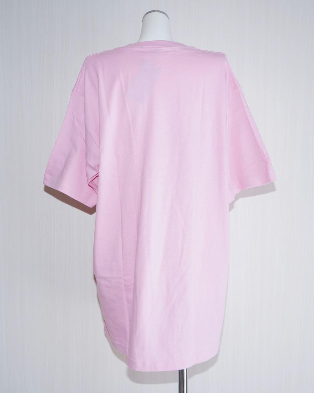 Basic T-shirts&Glitter Flower Mini Skirt 2P SET (pink&beige)