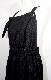 Lacy Stripes Salopette Flare Skirt (black)