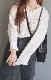 V-Neck Loose Knit Tunic (ecru)