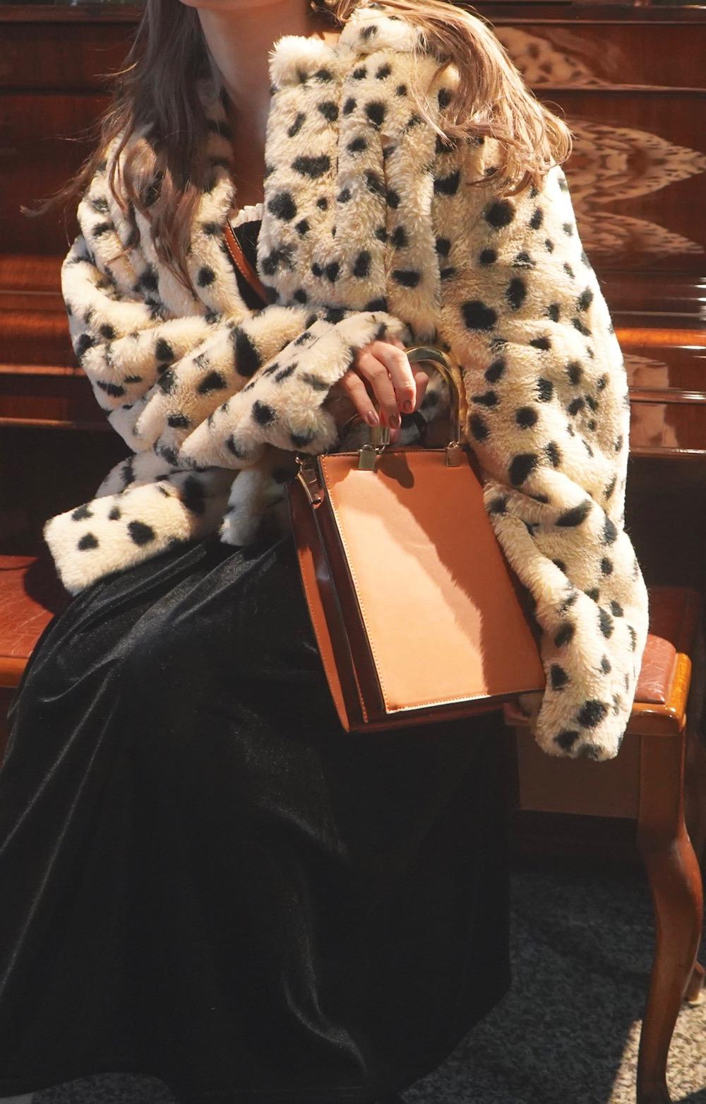 Dalmatian Fur Coat