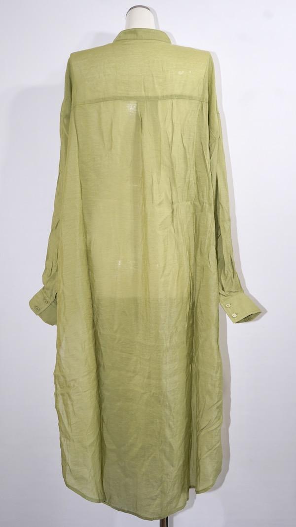2way Sheer Long Shirts Onepiece (green tea)