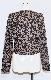 Leopard Zip Design Sweat Top (brown)