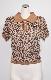 Leopard Knit Polo-Tops (beige)