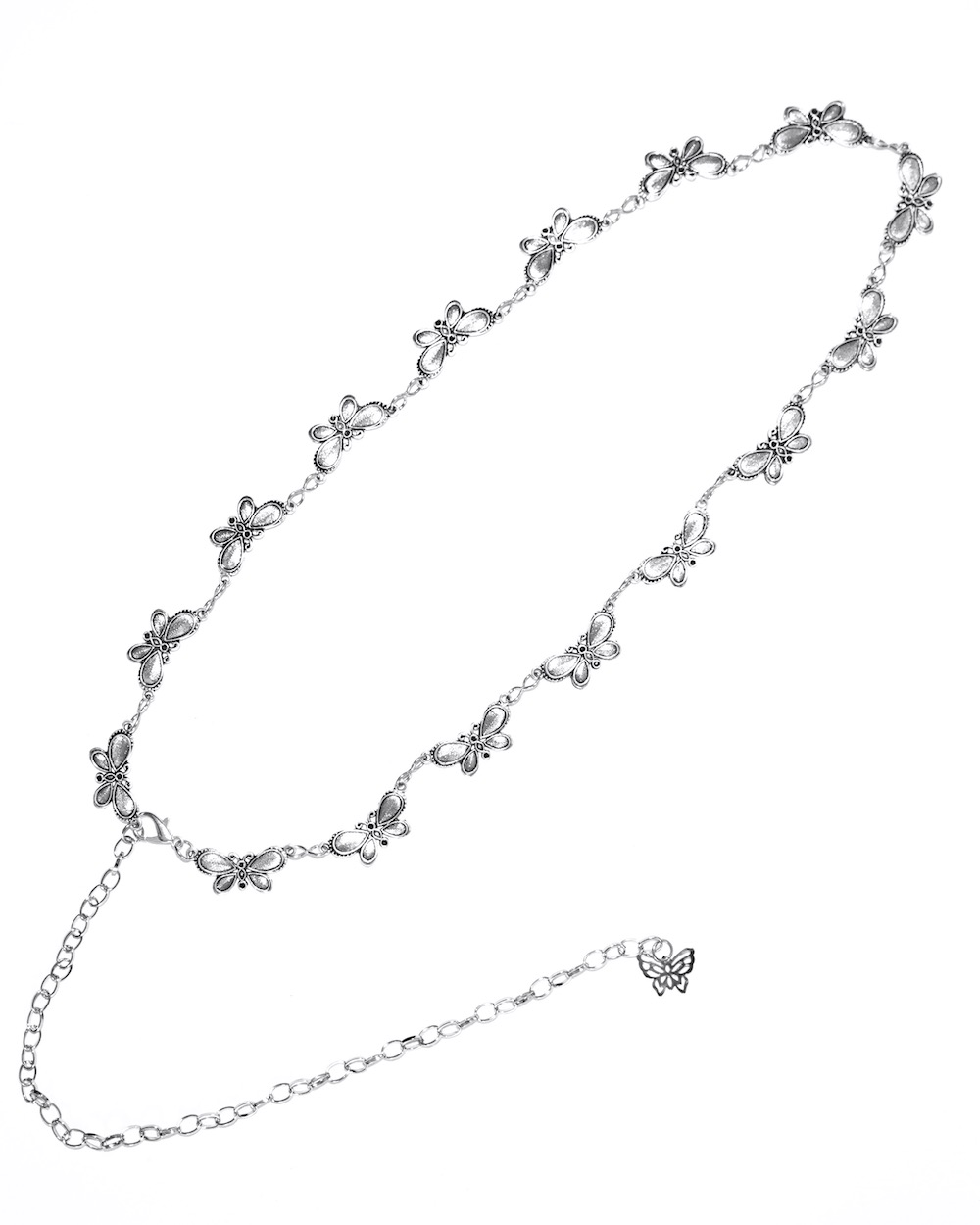 Butterflies Silver Chain Belt