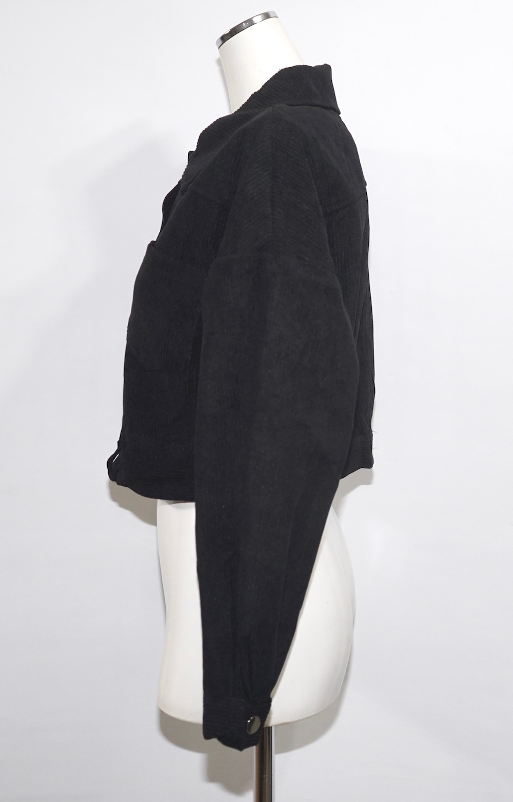 Corduroy Jacket+Skirt 2P SET UP (black)