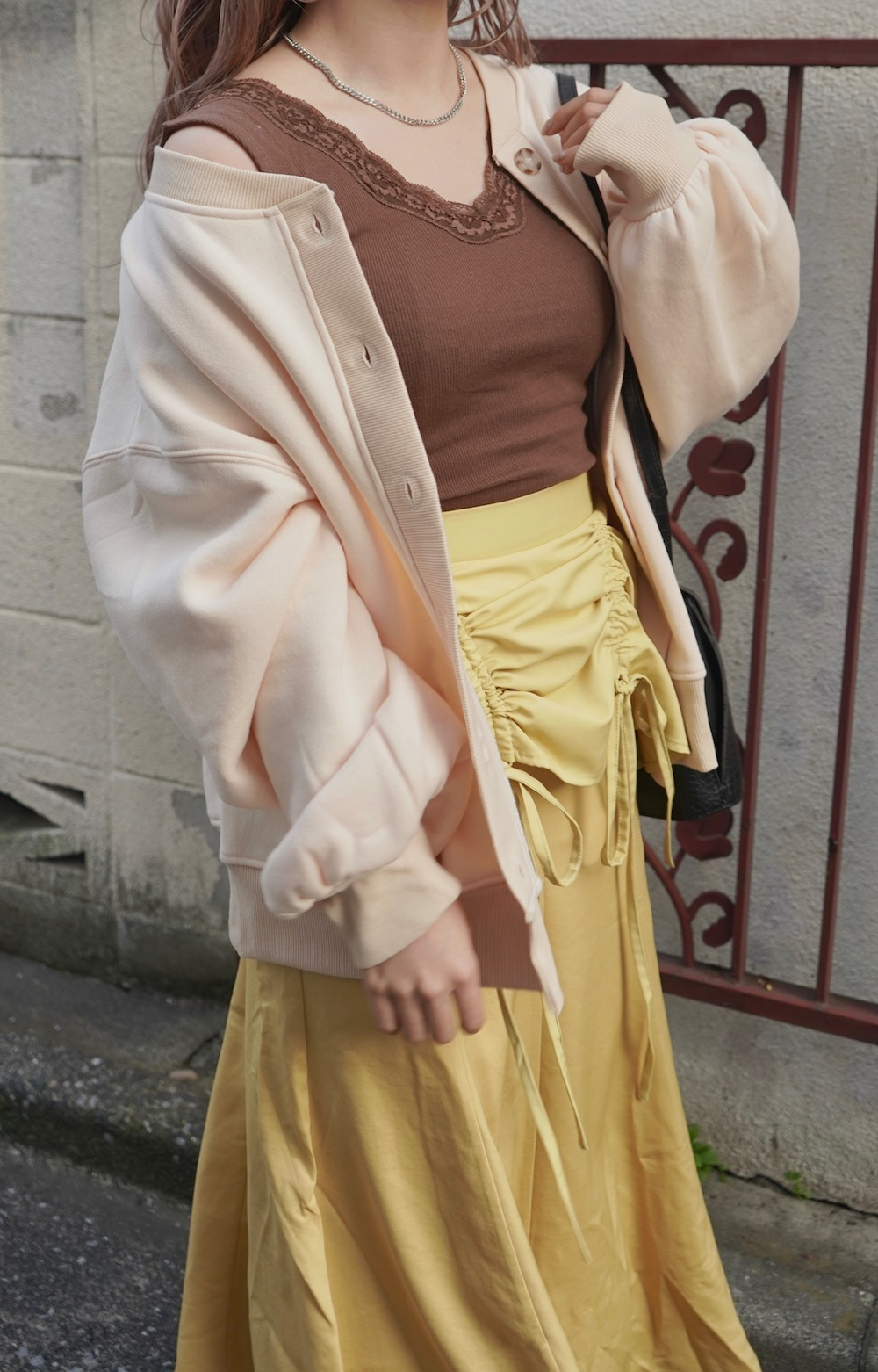Ribbon String Mermaid Long Skirt (yellow)