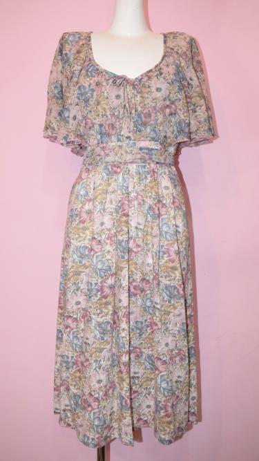 England Vintage Flower Dress