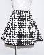 Monotone Houndstooth A-Line Skirt