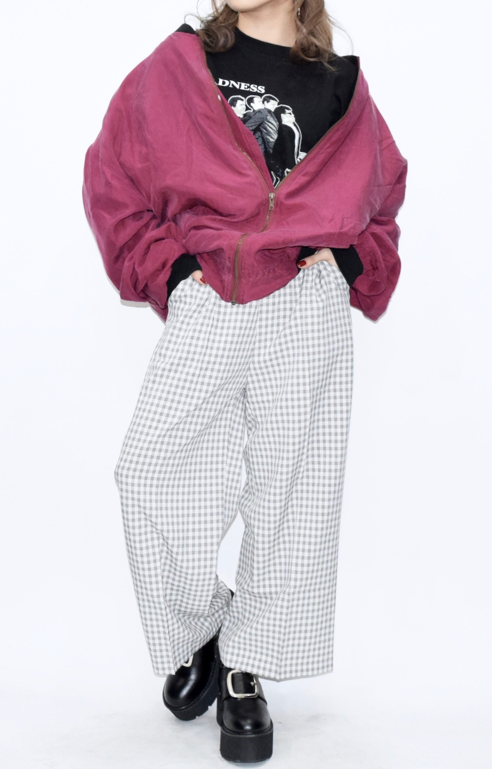 SILKY TOUCH MA-1 BLOUSON(D.PINK)