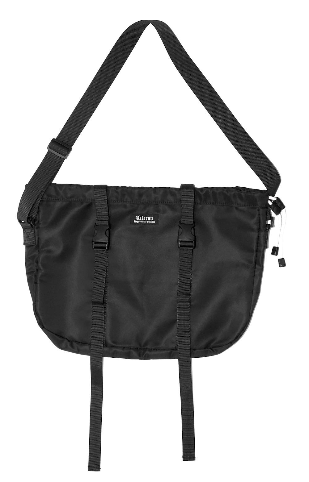 Nylon Belted Big Shoulder Bag
