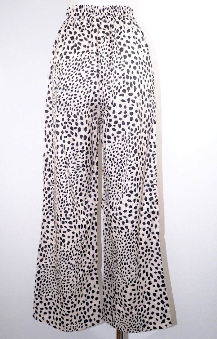 Dalmatian Wide Easy Pants (off white)