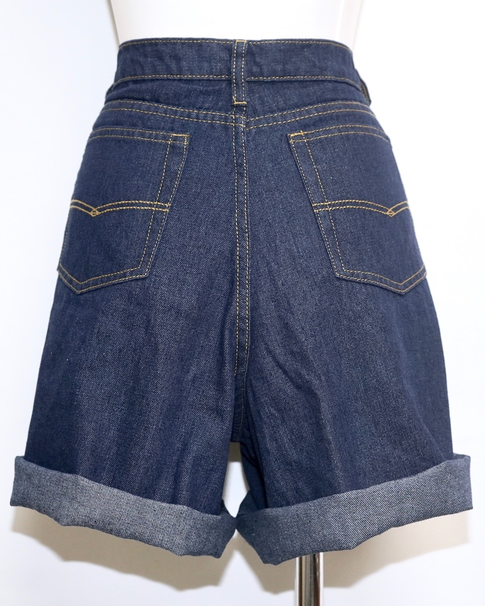 2way Roll-up Denim Short Pants (indigo)