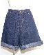 2way Roll-up Denim Short Pants (indigo)