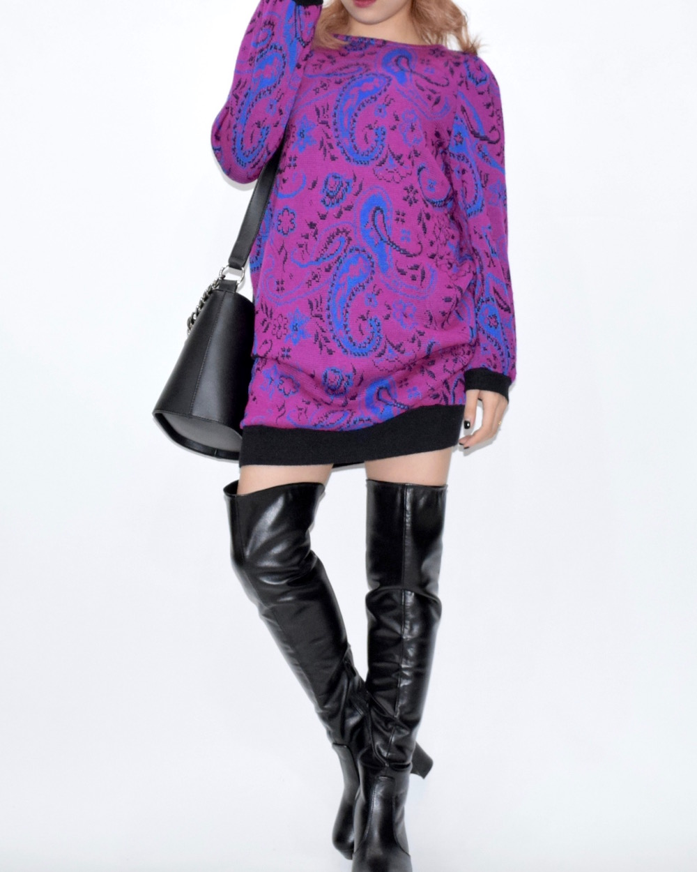 【WEB限定】VINTAGE PAISLEY KNIT ONE-PIECE(PPL)