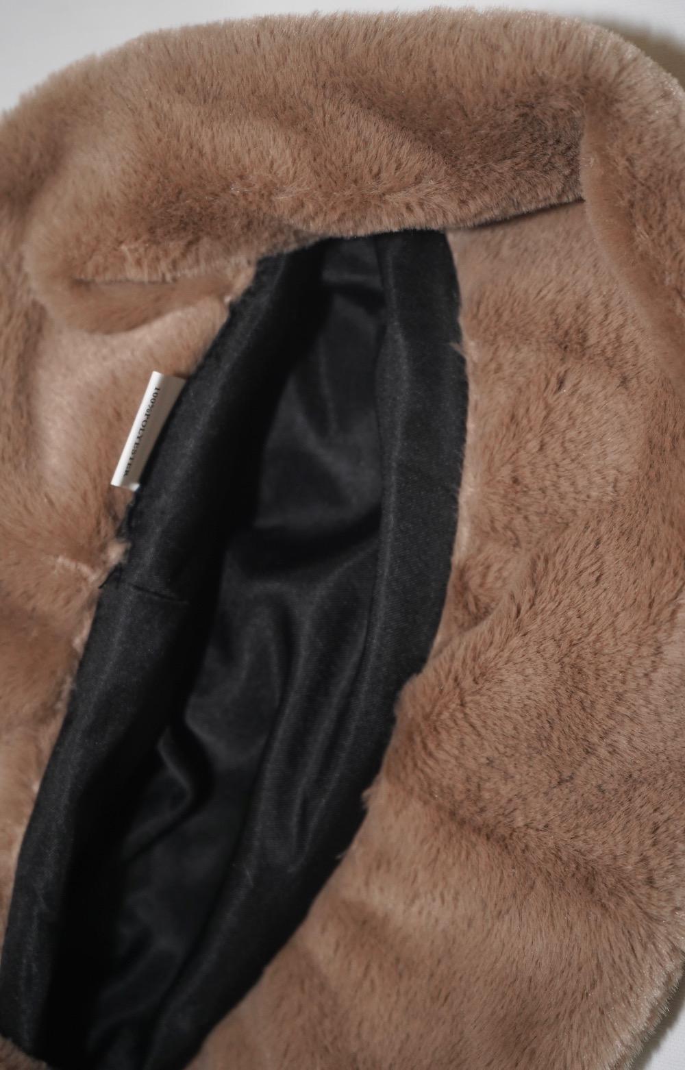 Eco Fur Bucket Hat (beige)