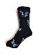 Blue Butterfly Rib Socks (black)