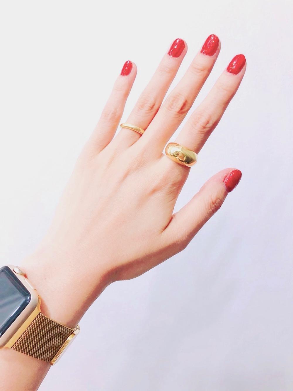 (全2色) PLAIN WIDE RING