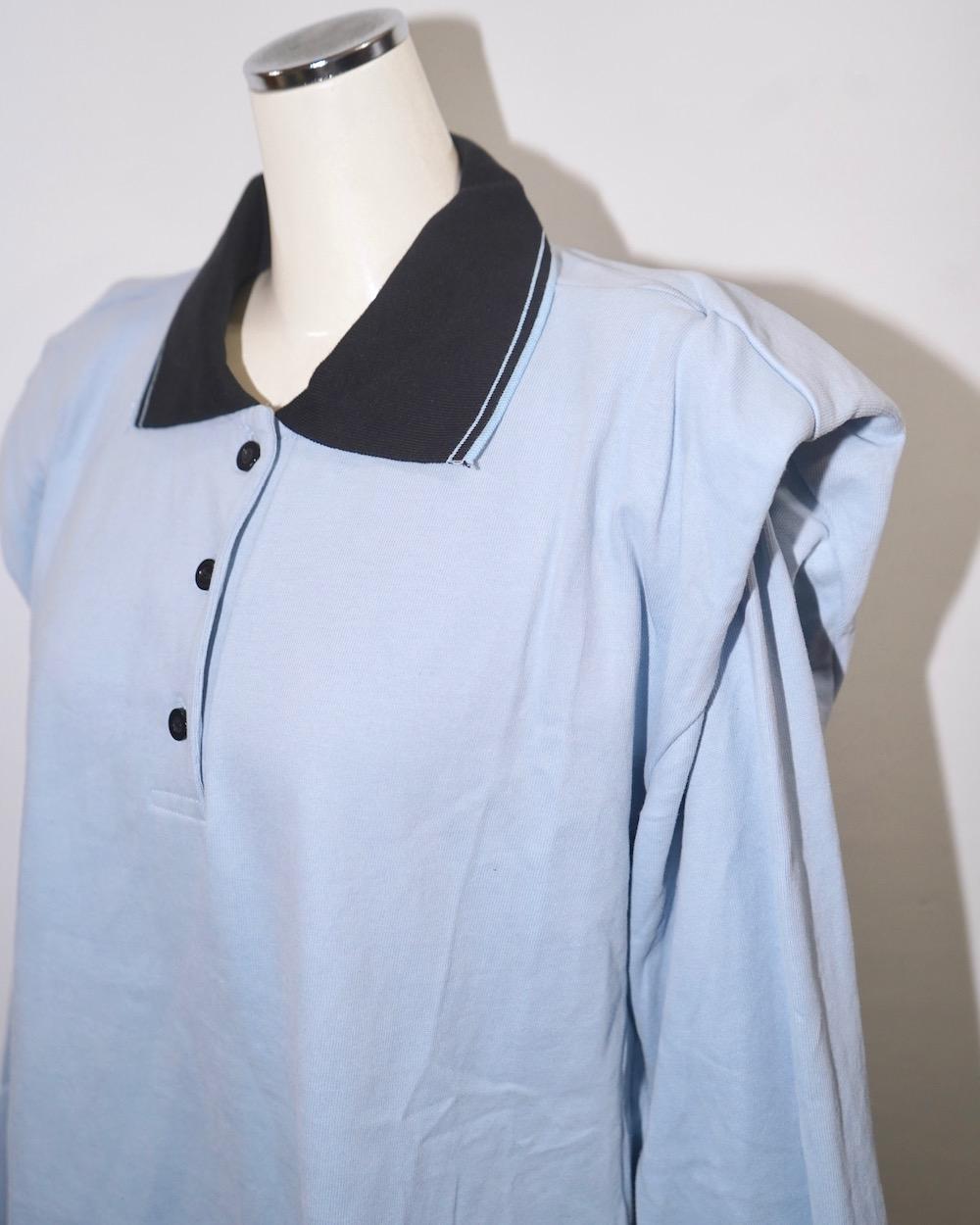 Point Shoulder Big Polo-shirts (sax blue)
