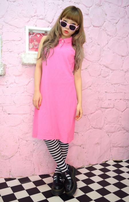 LACOSTE スリーブレスワンピース(pink)
