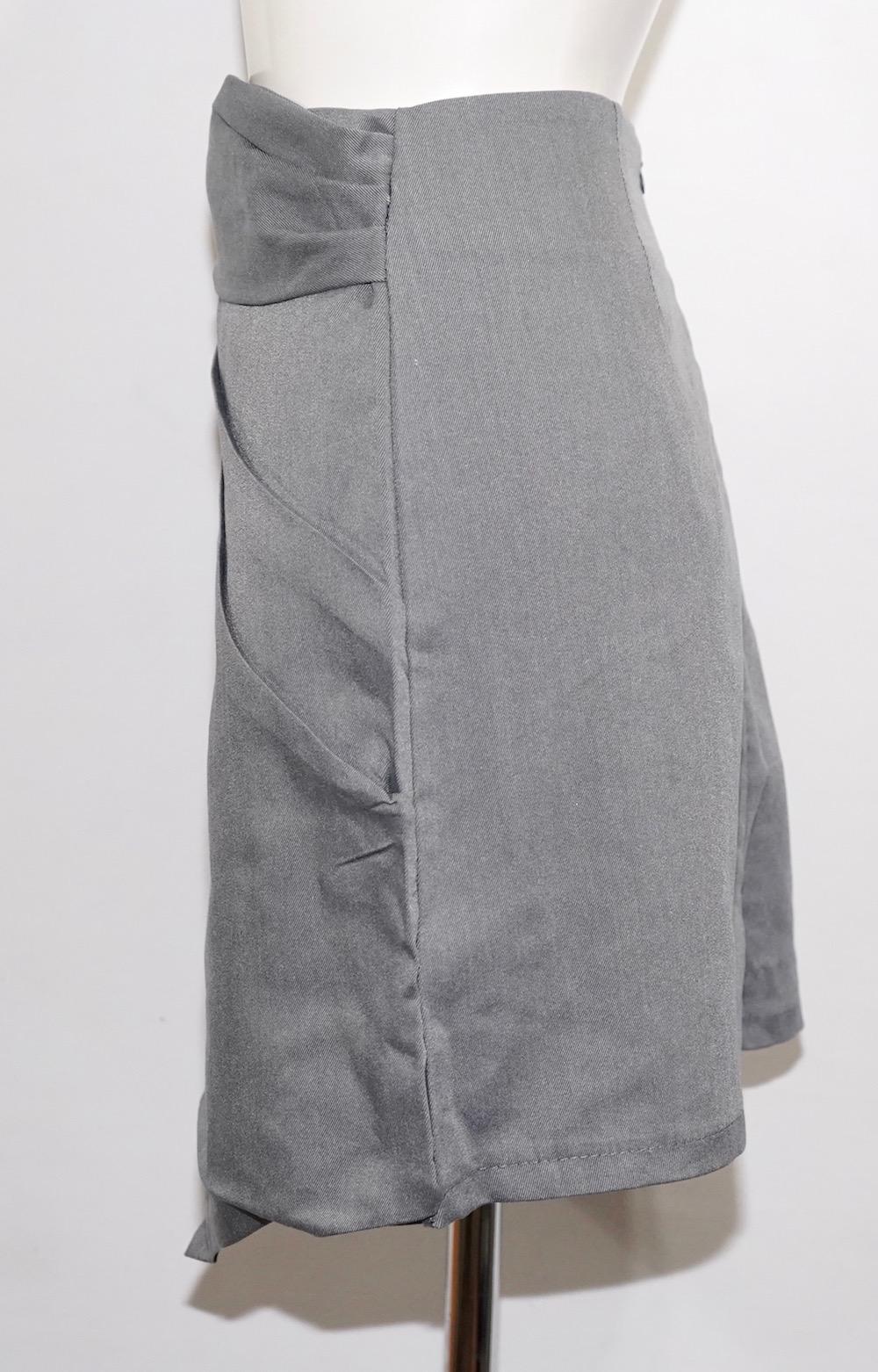Irregular Mini Skirt (grey)