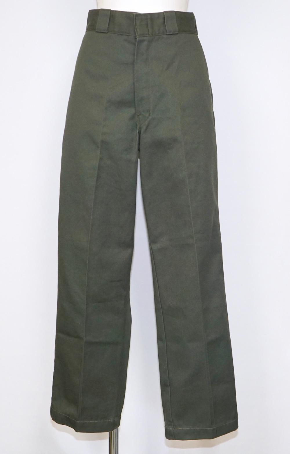 """DICKIES"" WIDE CHINO PANTS (moss green)"