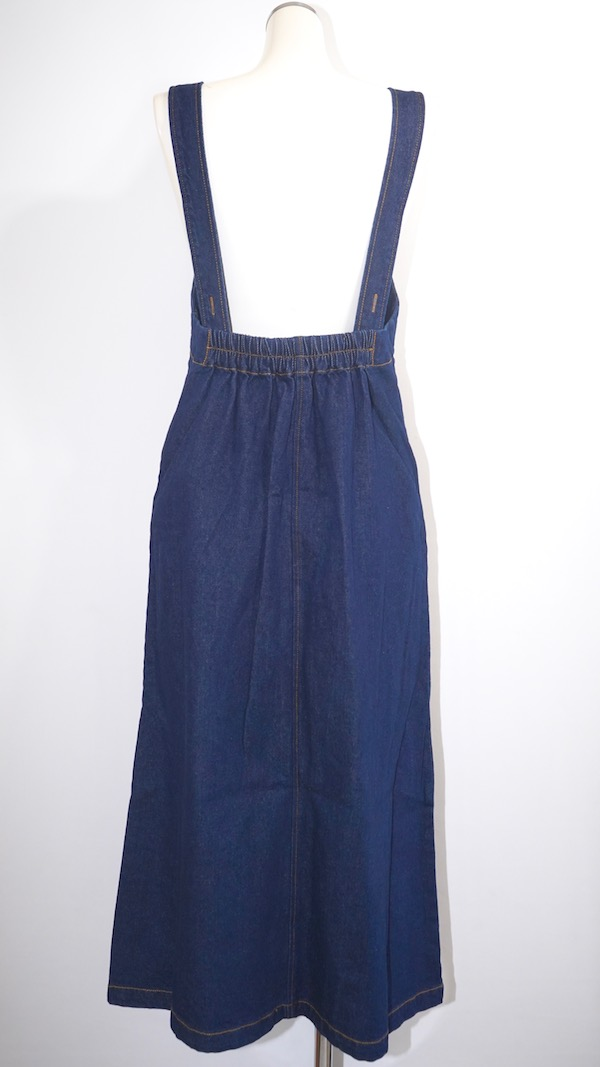 A-Line Denim Jumper Skirt (indigo)
