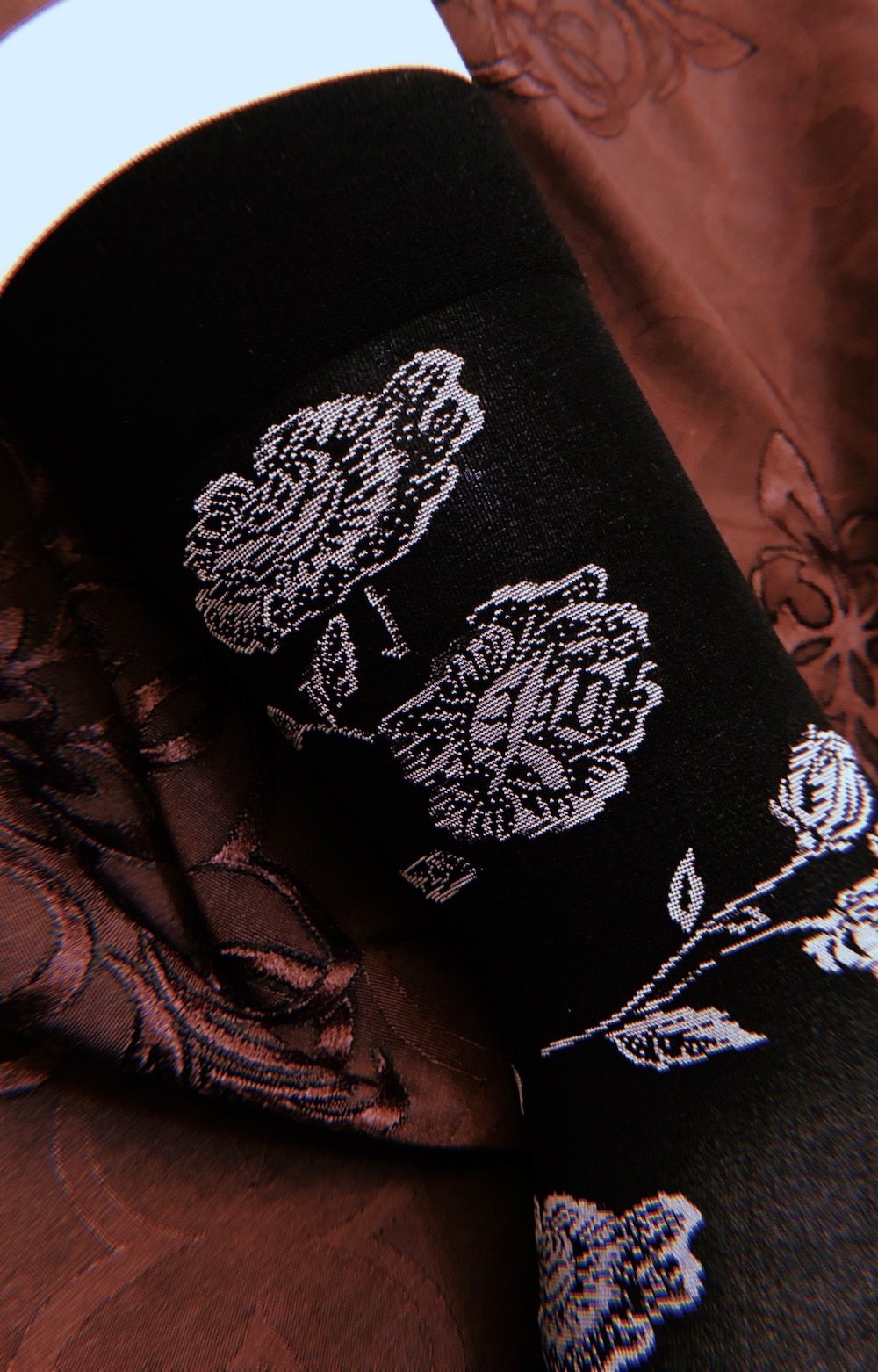 Flower Sheer Socks (black)