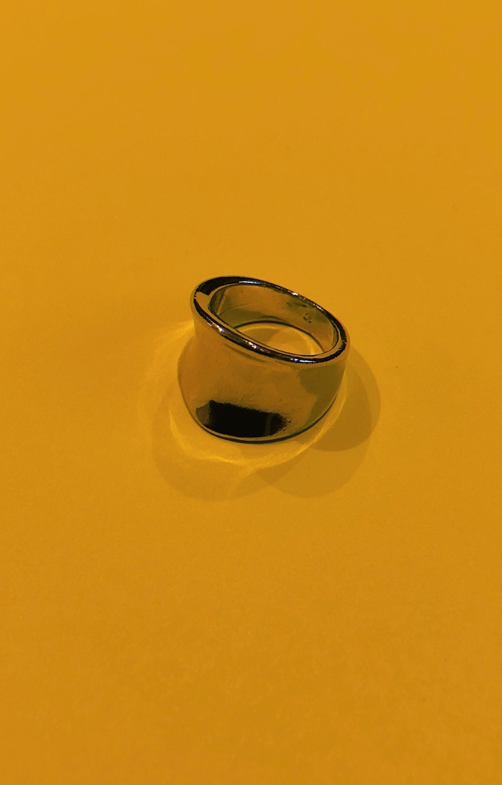 Silver Wide Flat Curved Ring