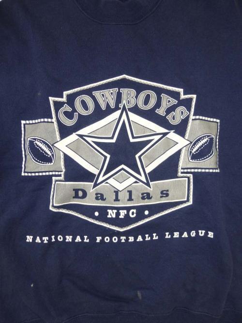 【Super Deal】COWBOYS Logo Big Sweat(NVY)