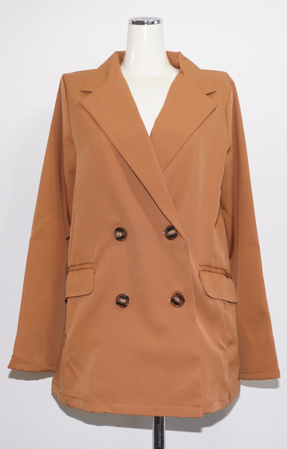Double Breasted Tailored Jacket (camel)