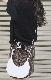 Point Crash Leopard Mini Skirt (brown)