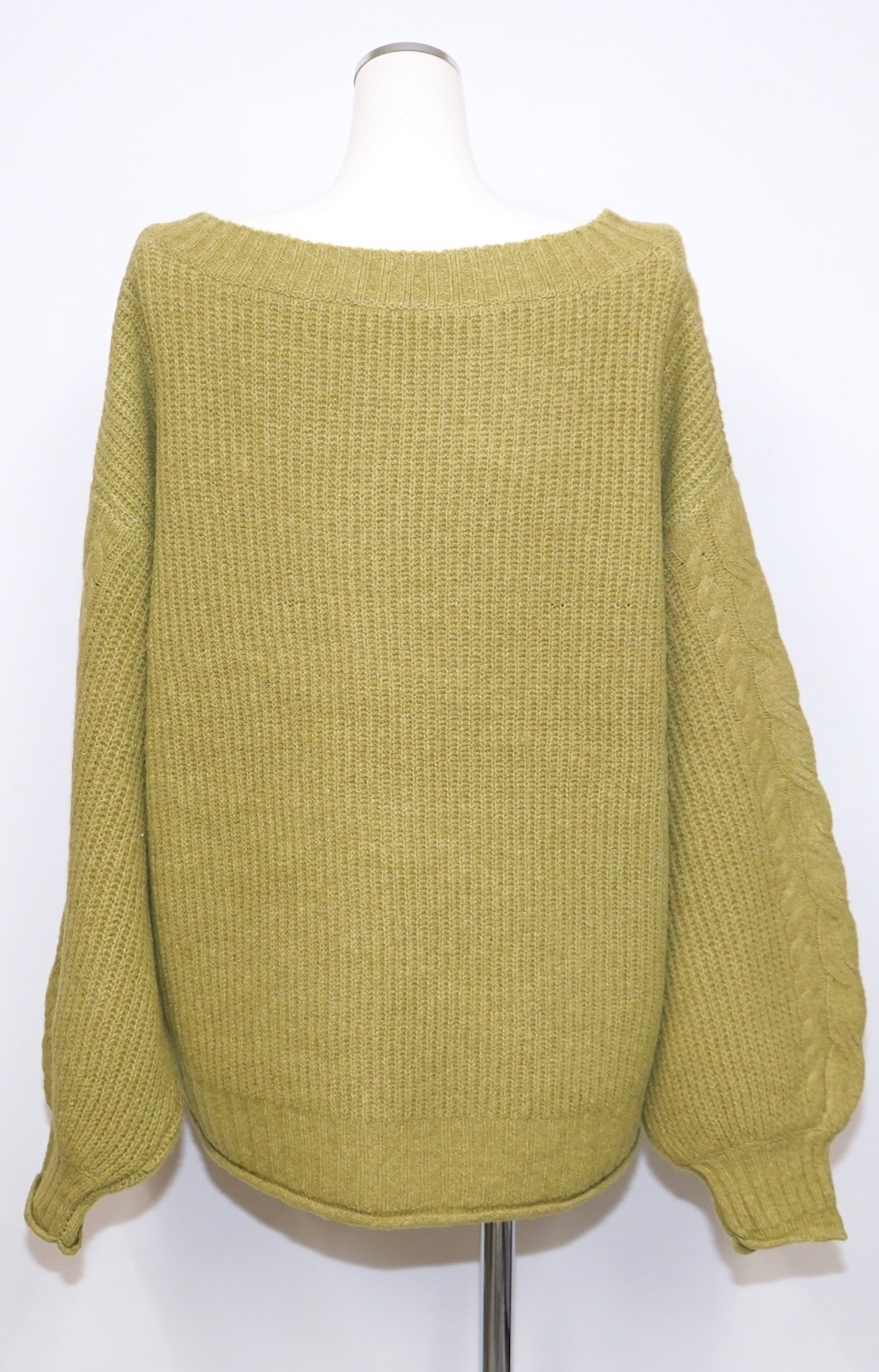Cable Knit Loose Tunic (pistachio green)