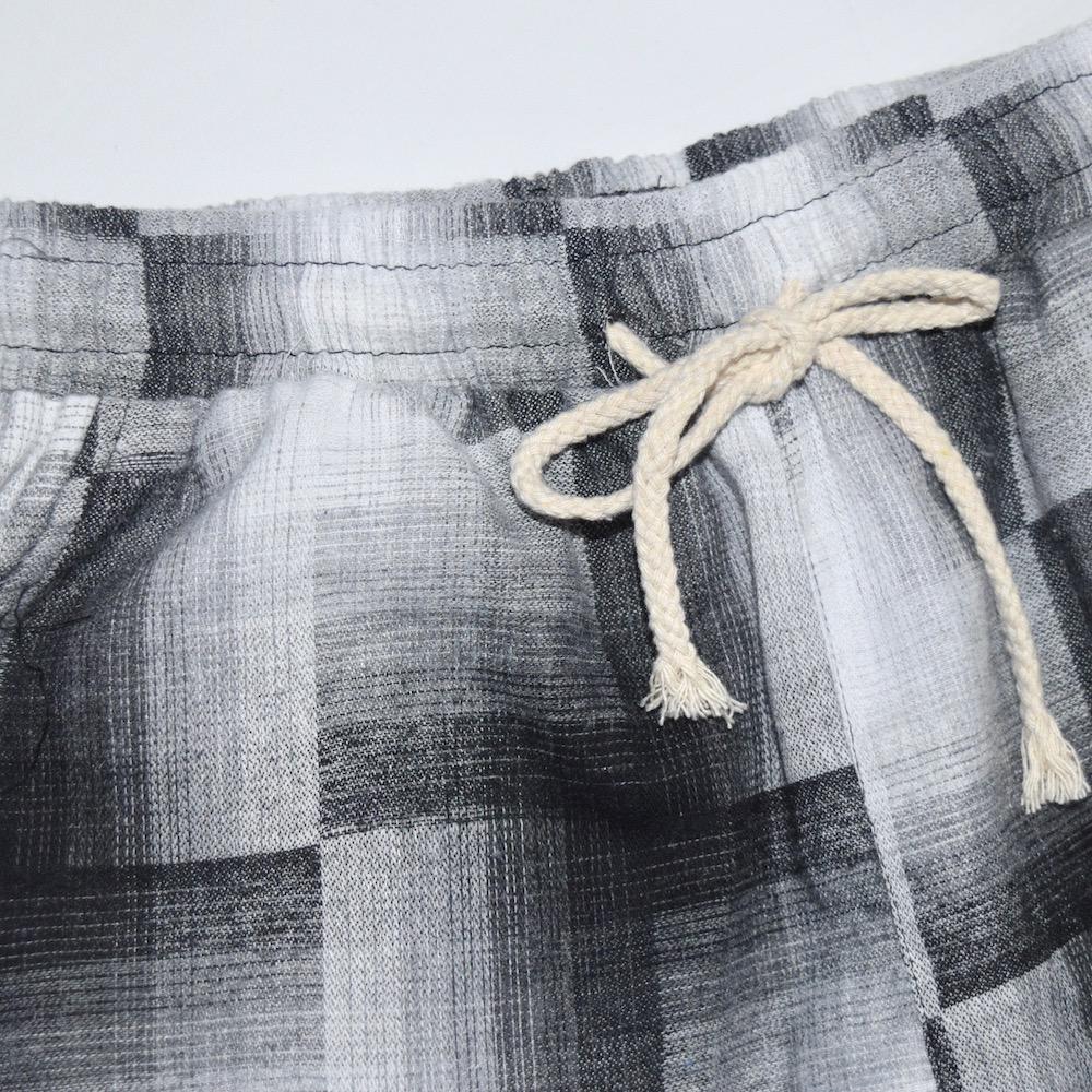 MOSAIC CHECK EASY PANTS (black)