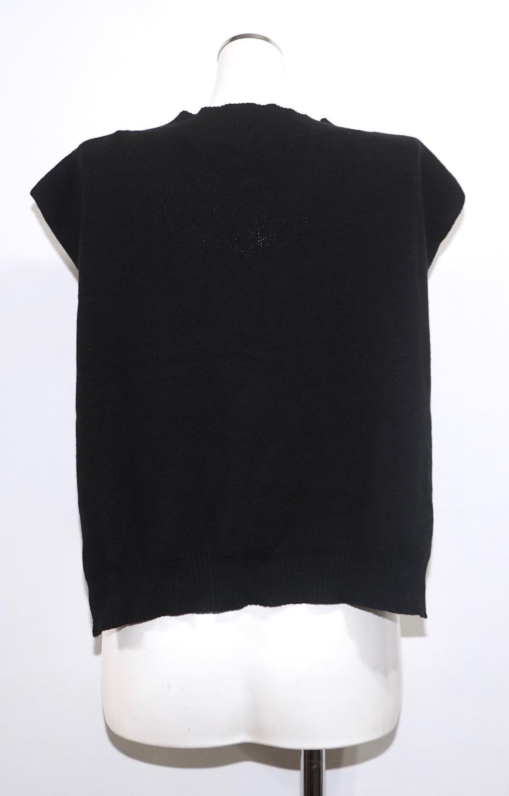 Basic V-neck Knit Vest (black)