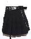 Black Box Pleats Mini Skirt *silver chain&eyelet belt SET