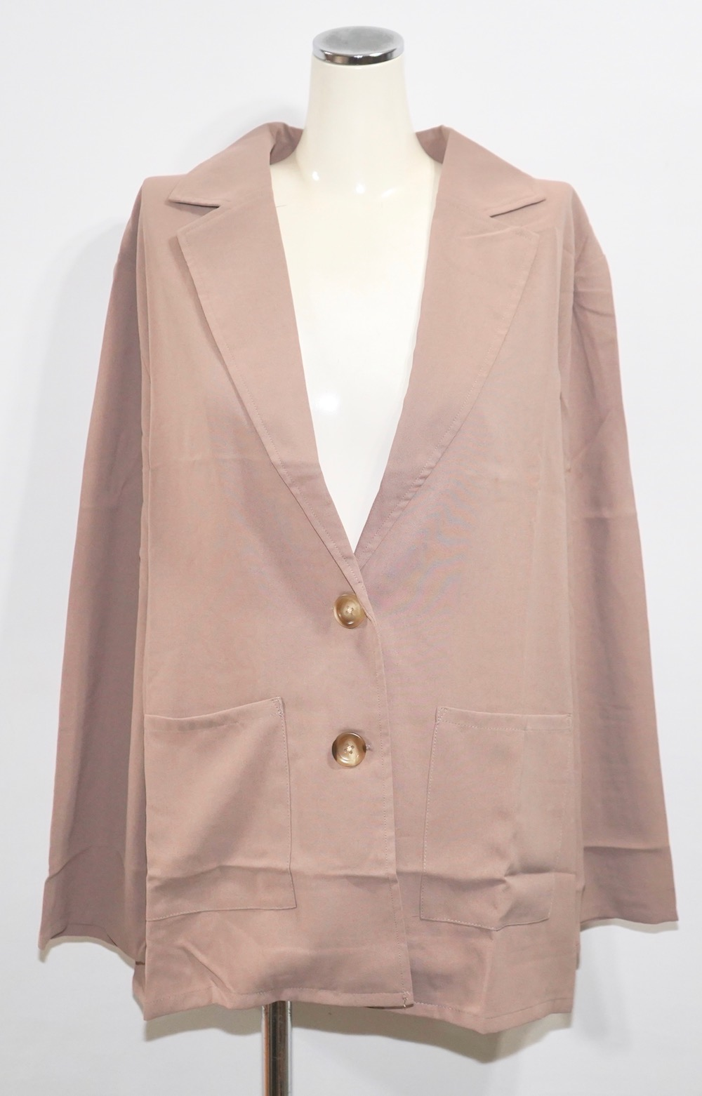 Single Breasted Tailored Jacket (ash beige)