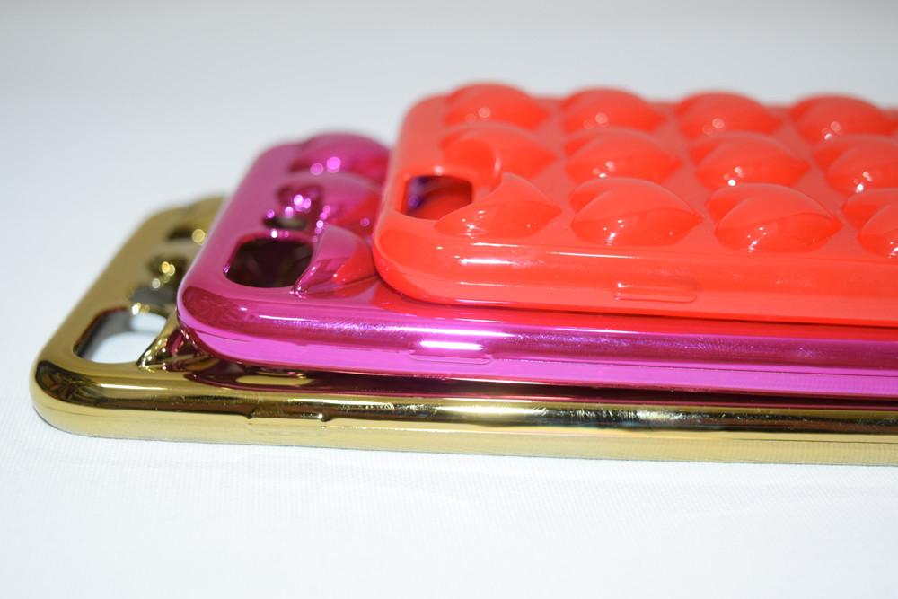 (全3色)3D Heart i Phone Case