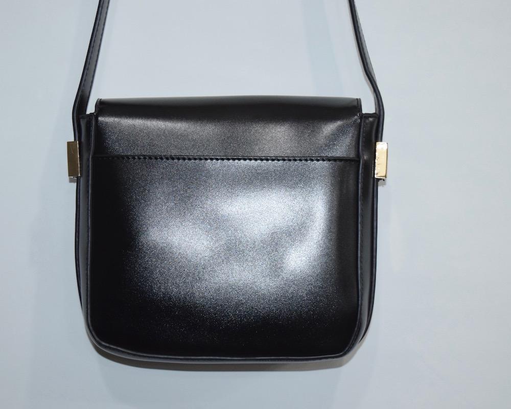 (全2色)BASIC LEATHER-TOUCH SHOULDER BAG