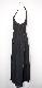 White Stitch Box Pleats Cami-Onepiece (black)