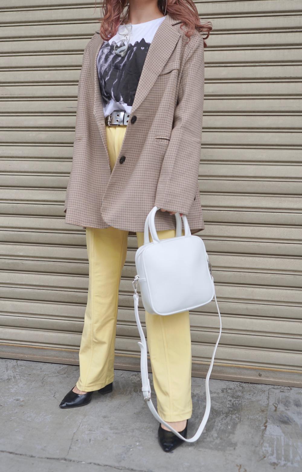 Gun Club Check Oversized Tailored Jacket (beige)