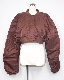 Nylon Padding Cropped Jacket (brick brown)