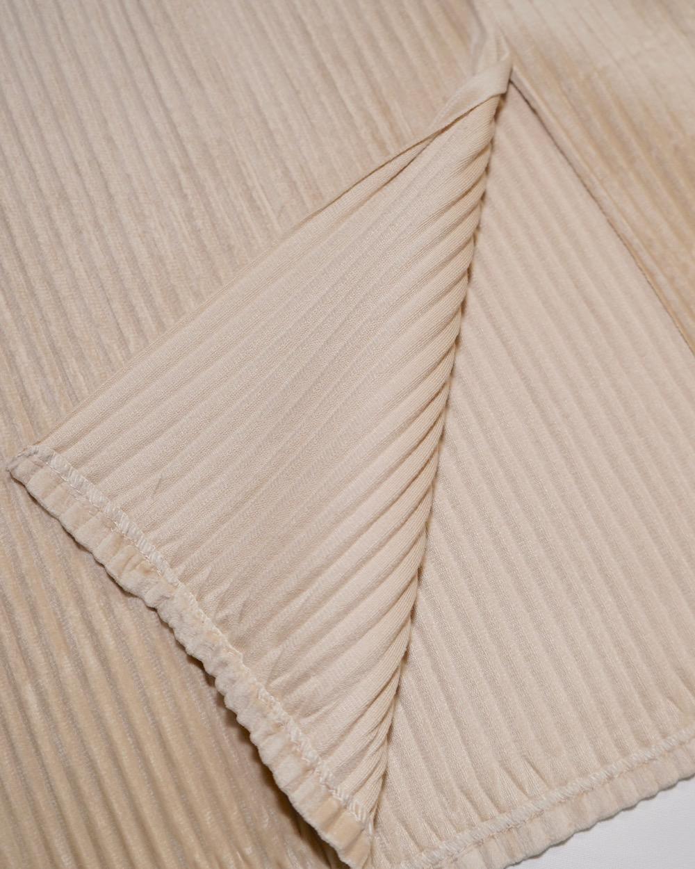 Velvet Rib H-Line Skirt (off-white)