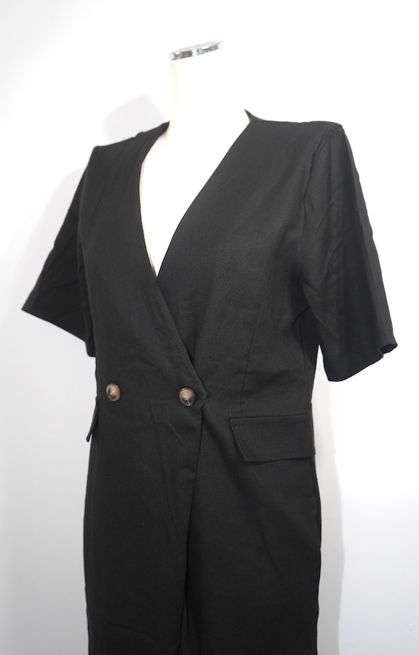 Double Breasted S/S Jumpsuit (black)